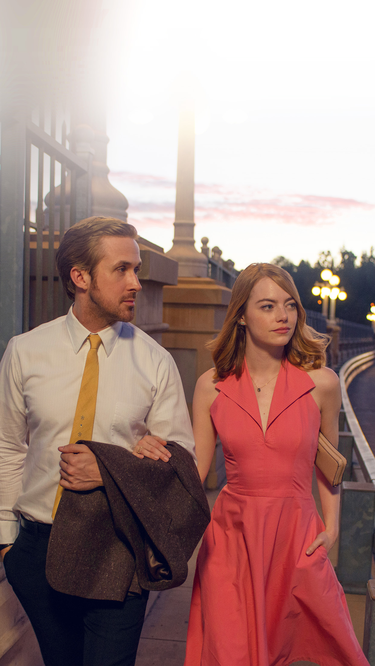 Simple Iphone X Wallpaper Hl40 Lalaland Ryan Gosling Emma Stone Red Film Wallpaper