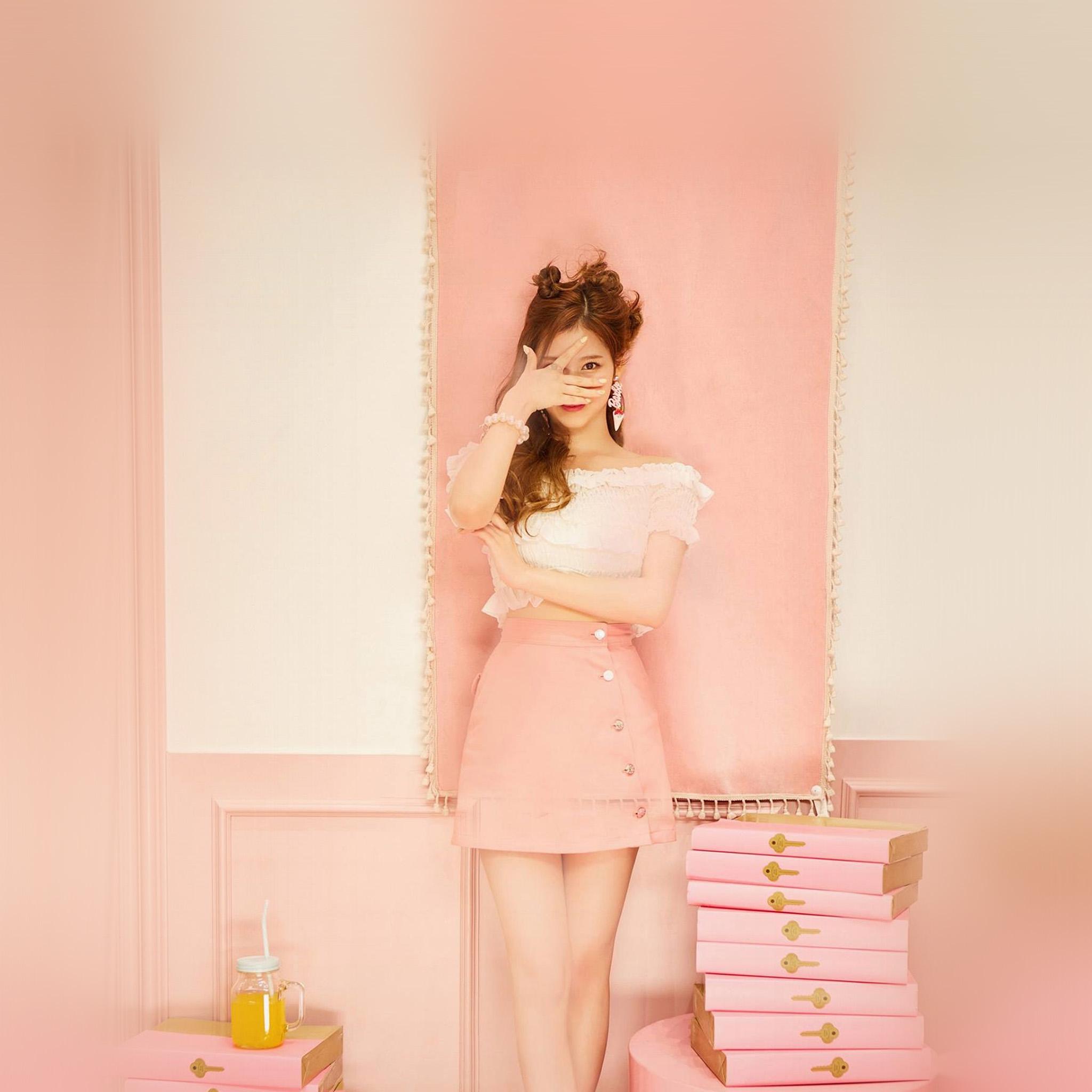 Samsung Galaxy Girl Wallpaper Hn12 Sana Girl Twice Kpop Cute Pink Wallpaper
