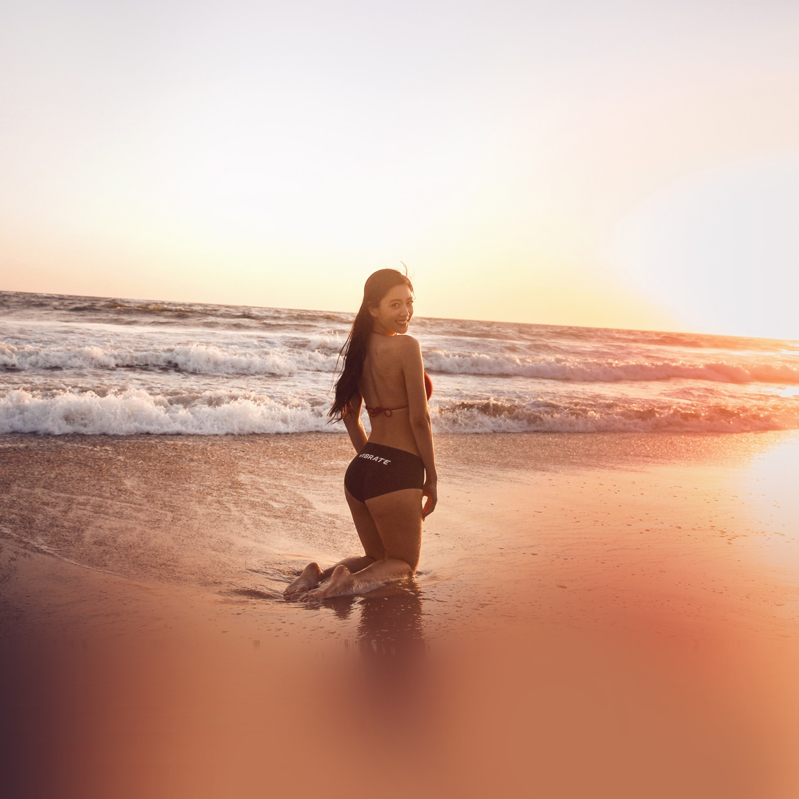 Cute Girly Summer Wallpapers Papers Co Android Wallpaper Hn33 Beach Girl Sunset