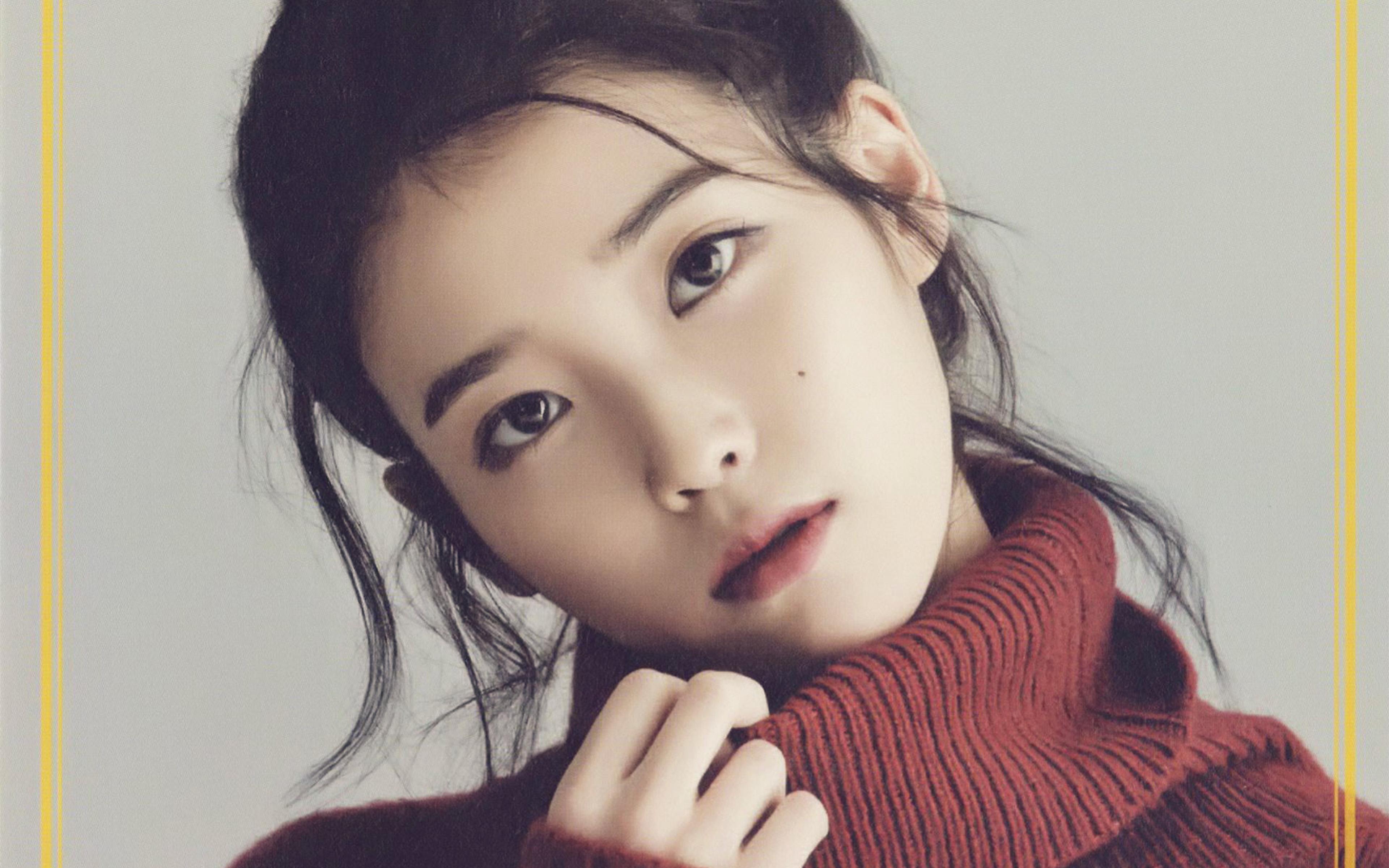 Black N White Girl Wallpaper Hn83 Iu Kpop Girl Singer Artist Cute Wallpaper