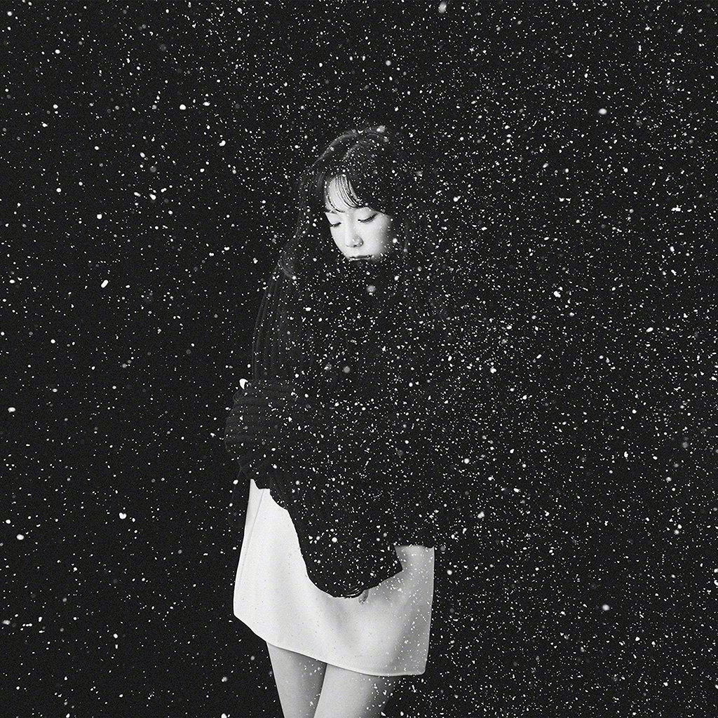 Abstract Girl Face Wallpaper Ho98 Snow Girl Snsd Taeyeon Black Bw Kpop Wallpaper