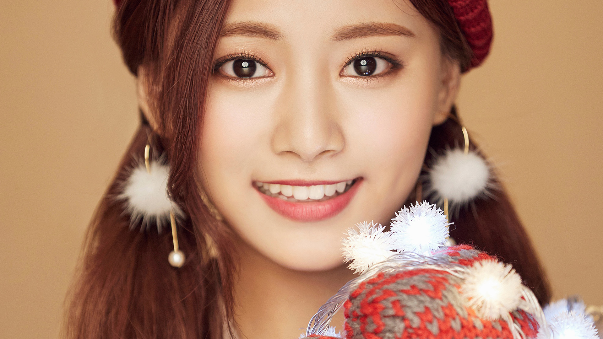 Wallpaper Macbook Air Fall Art Ho99 Christmas Girl Twice Tzuyu Happy Wallpaper