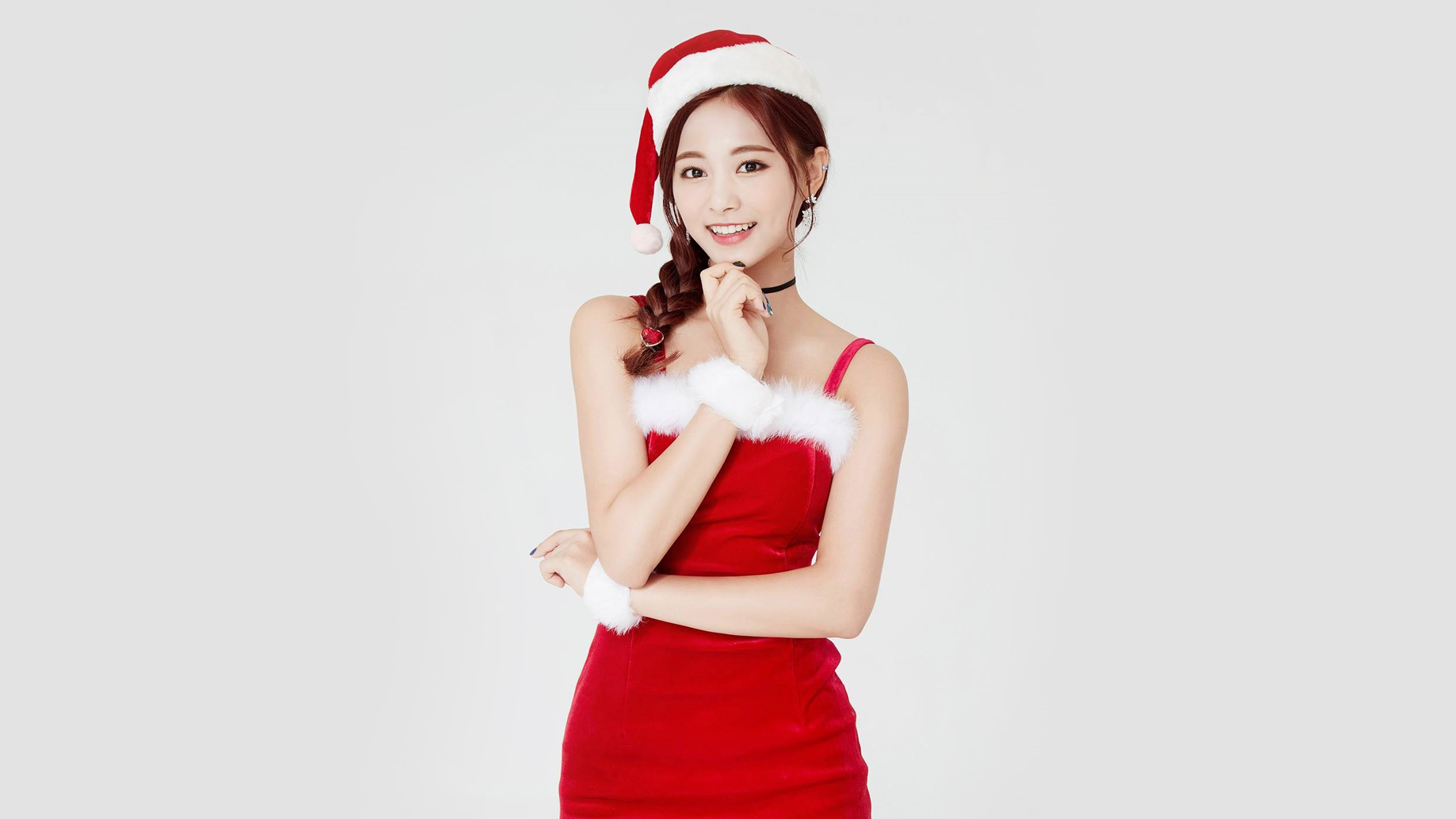 Cute Wallpaper For Summer Hp14 Twice Tzuyu Girl Christmas Kpop Wallpaper