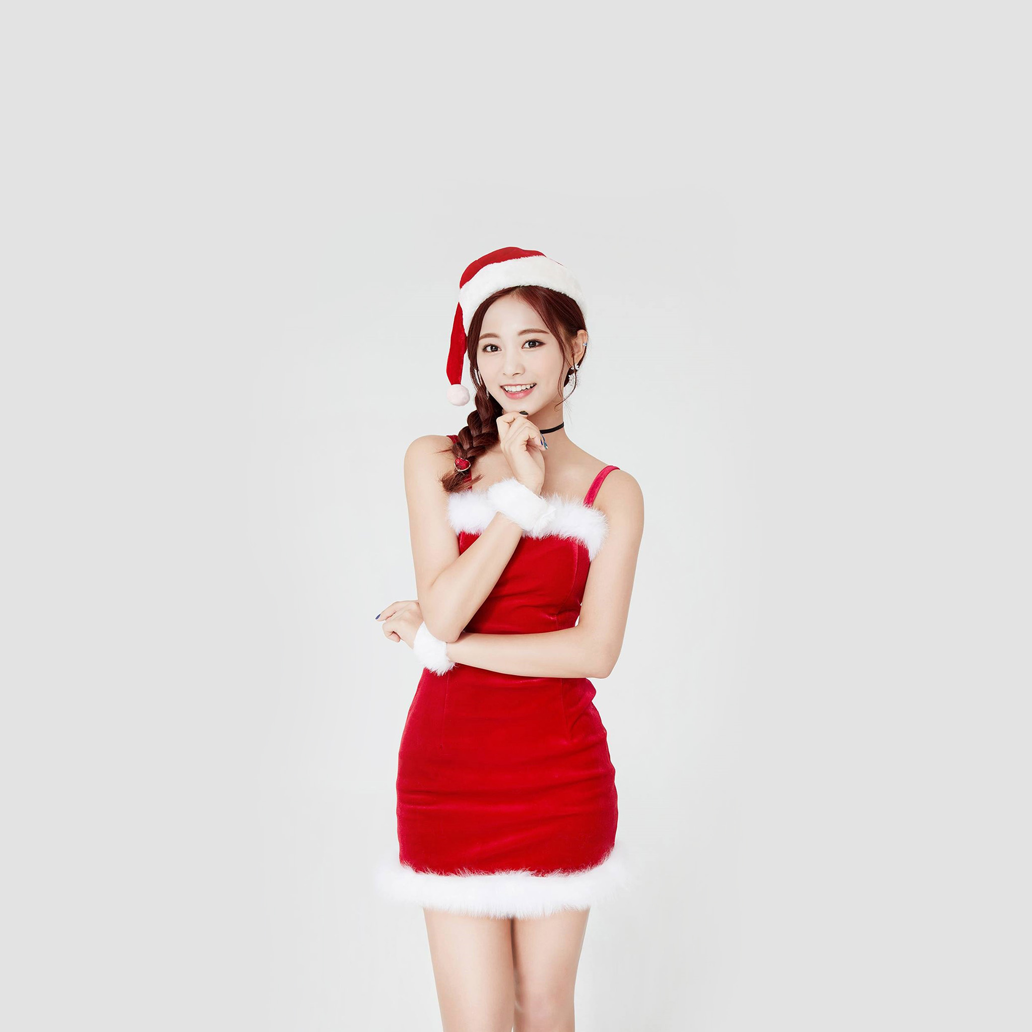 Wallpaper Android Hd Girl Hp14 Twice Tzuyu Girl Christmas Kpop Wallpaper