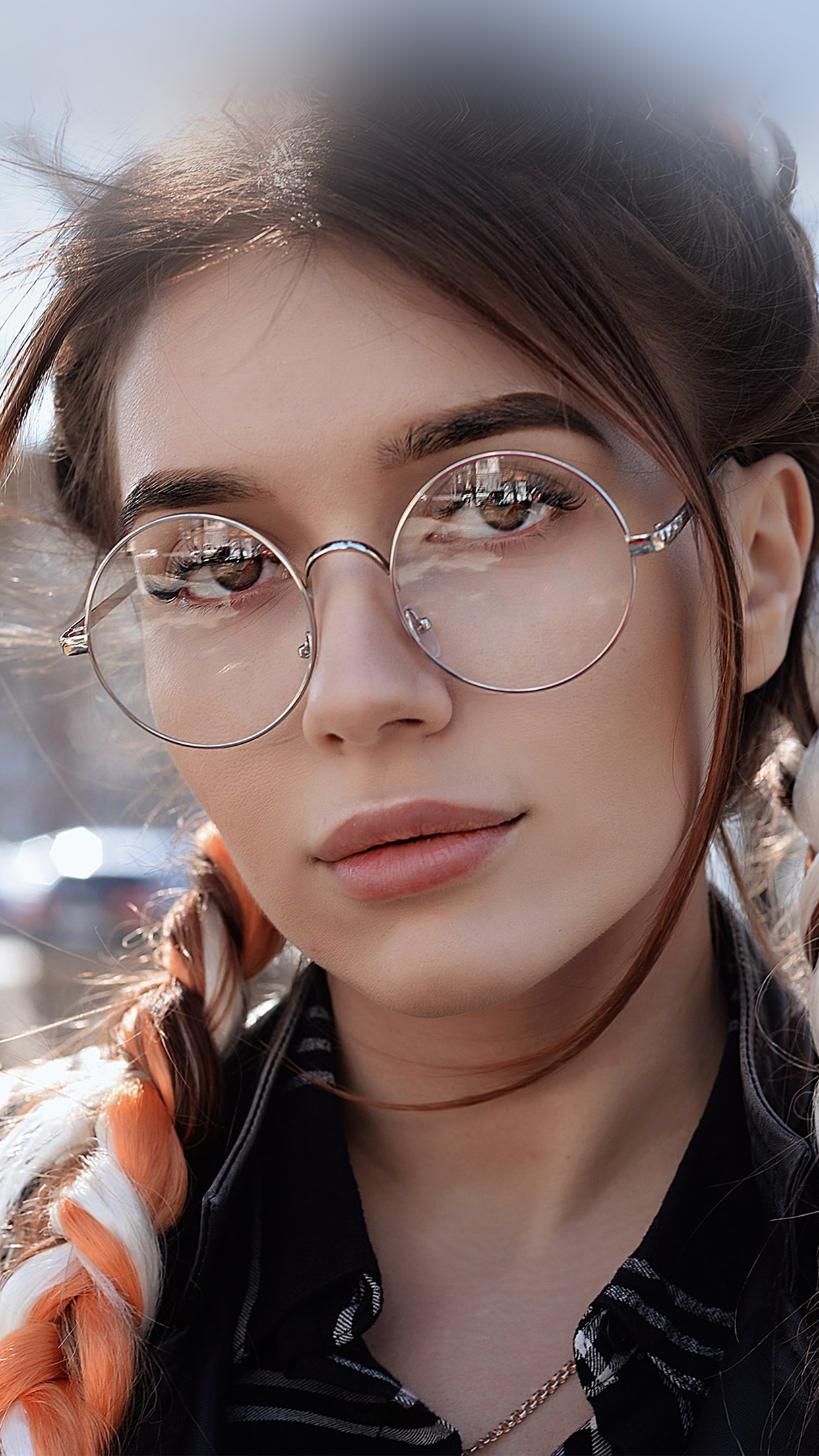 Car Wallpaper Hp49 Dua Lipa Girl Glasses Wallpaper