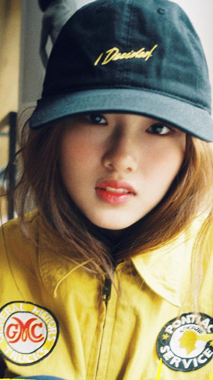 Butterfly Girl Hd Wallpaper Hp58 Girl Hat Cute Kpop Wallpaper