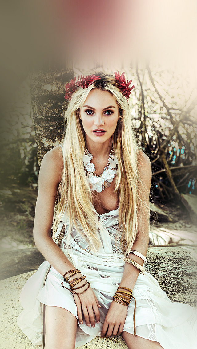 Galaxy Wallpaper For Iphone 4 Hp79 Candice Swanepoel Model Victoria Girl Wallpaper