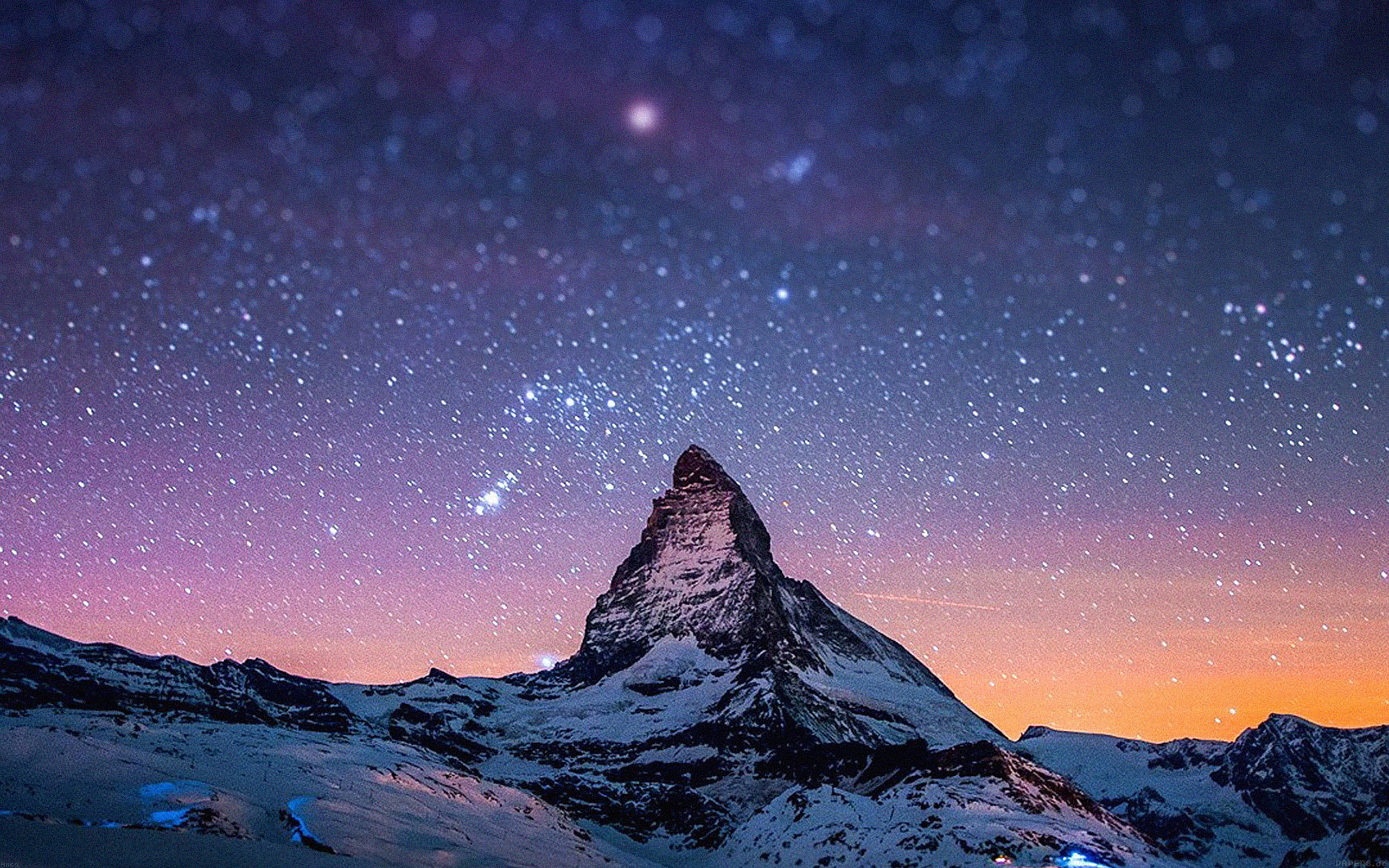 Best 3d Droid Wallpaper Ma69 Night Stars Over Moutain Nature Papers Co