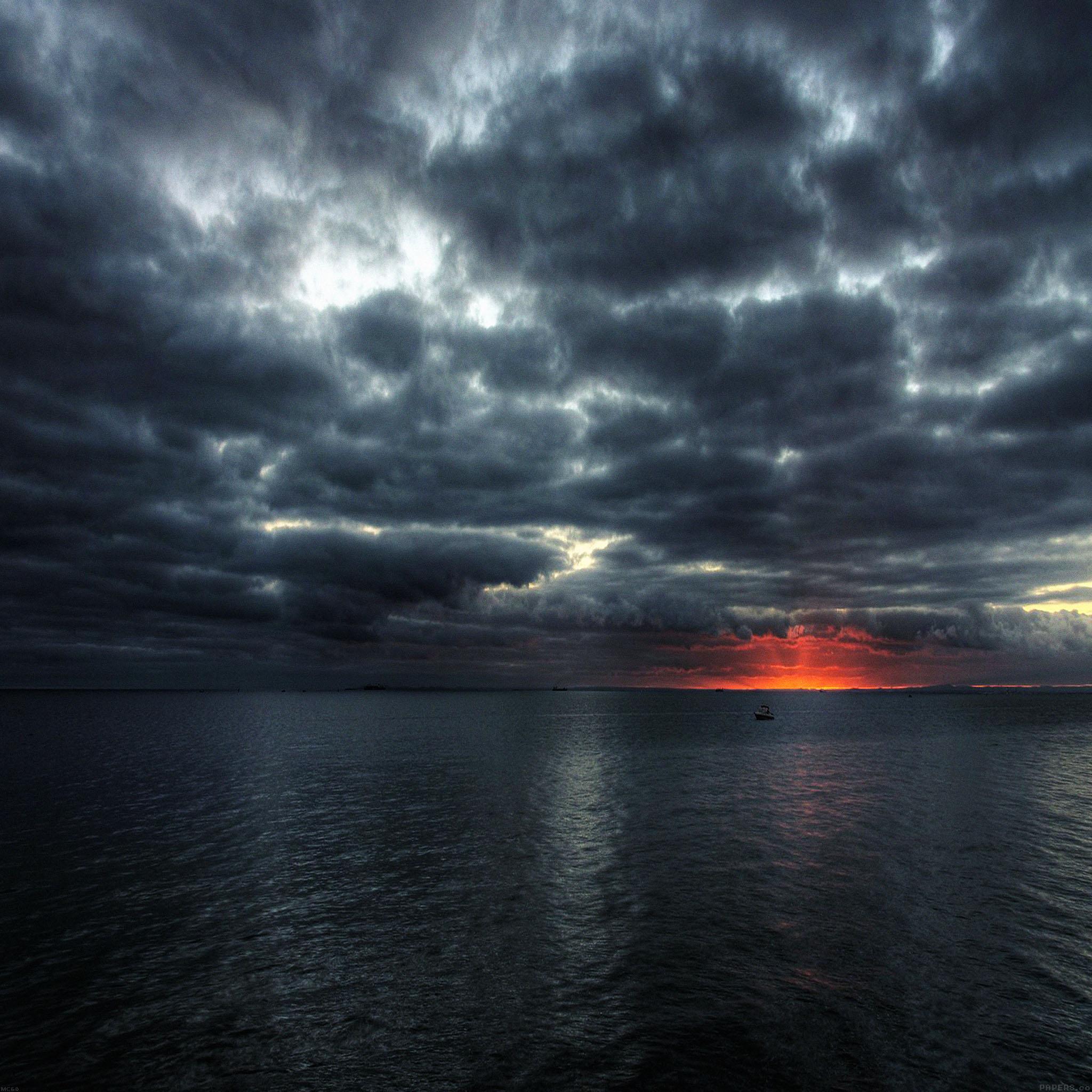 Crazy Iphone 5 Wallpapers Mc60 Wallpaper Dark Sea Storm Night Ocean Papers Co