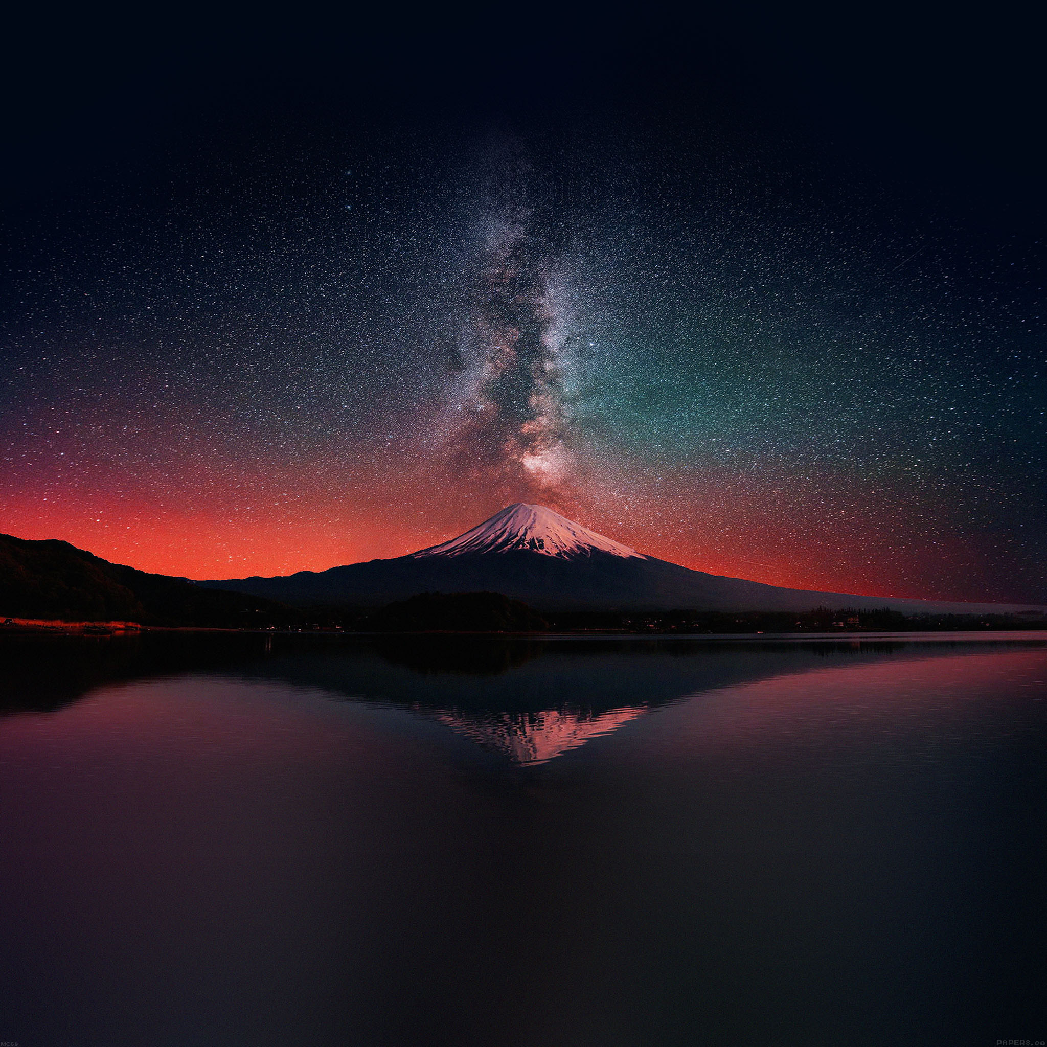 Best Car Wallpapers For Desktop Mc69 Wallpaper Milky Way On Dark Mountain Fuji Sky Papers Co