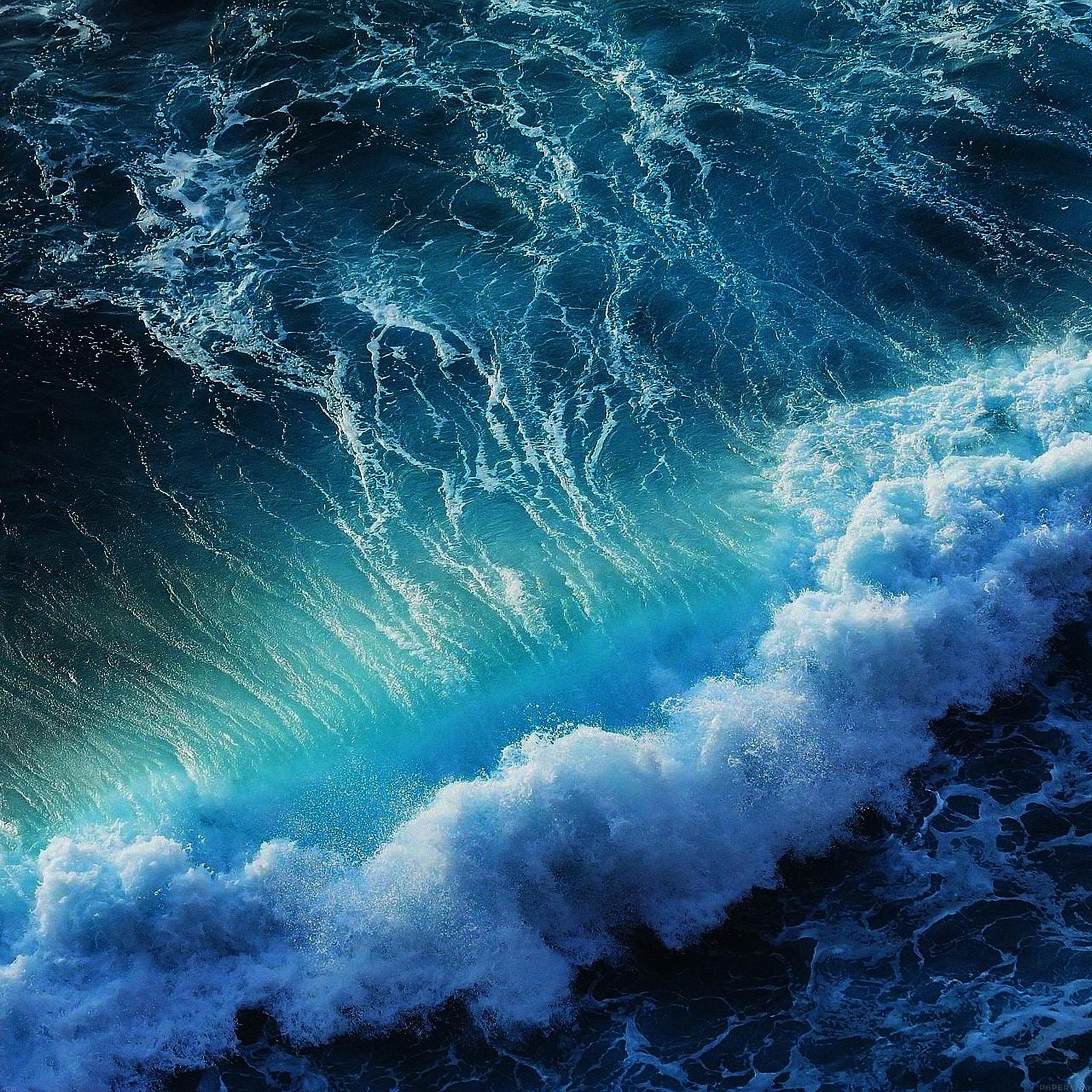 Ios 11 Hd Wallpaper Me18 Wave California Ocean Papers Co