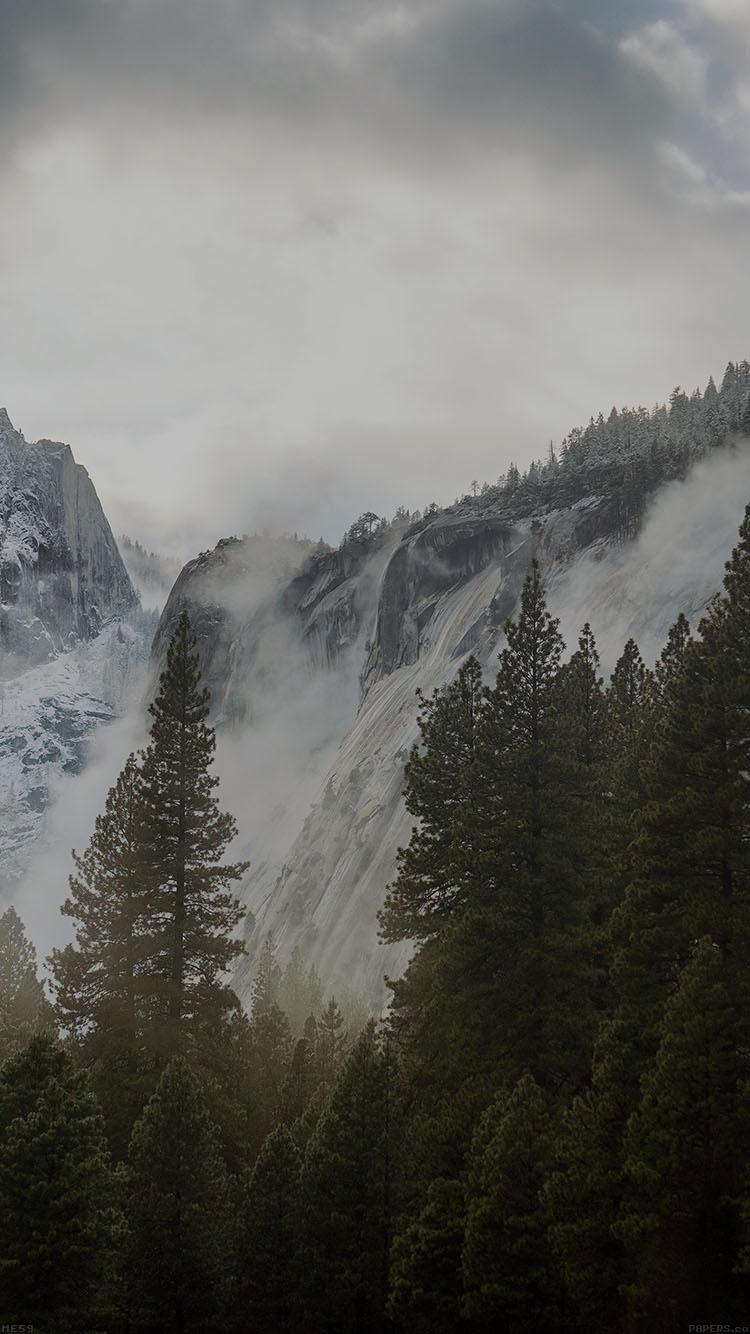 Nice Anime Wallpaper Me59 Yosemite Snow Dark Mountain Nature Wallpaper