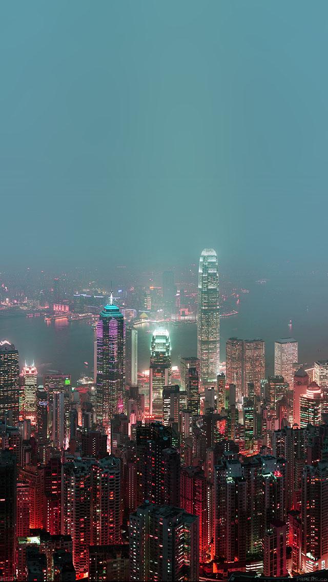 Live Wallpaper Iphone 5 App Freeios7 Me97 Skyline Hongkong Fire City Night Live