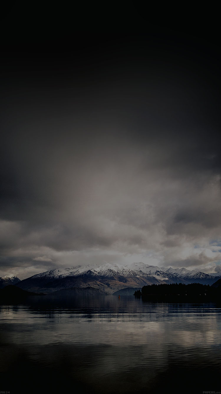 Ios 11 4 Wallpaper On Iphone X Mg34 Lake Dark Mountain And Sky Nature