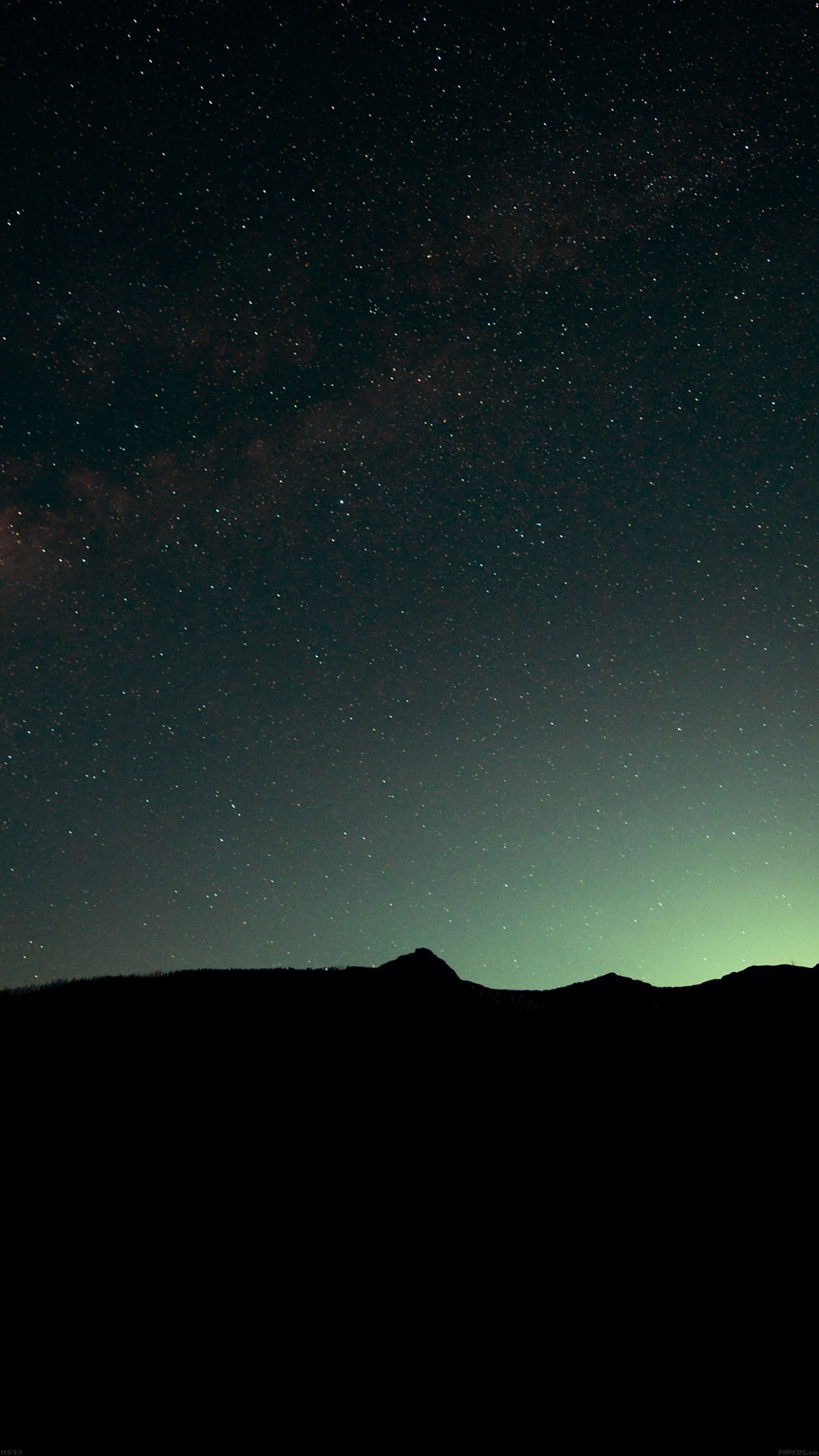 Car Hd Wallpaper For Iphone Mg93 Night Sky Green Wide Mountain Star Shining Nature