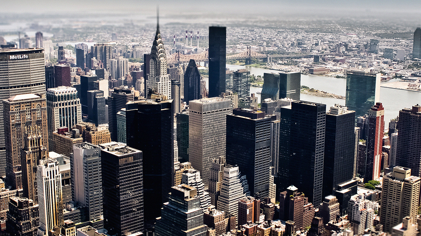 Fall In Nyc Wallpaper Mi03 New York Sky Tilt Shift City Papers Co