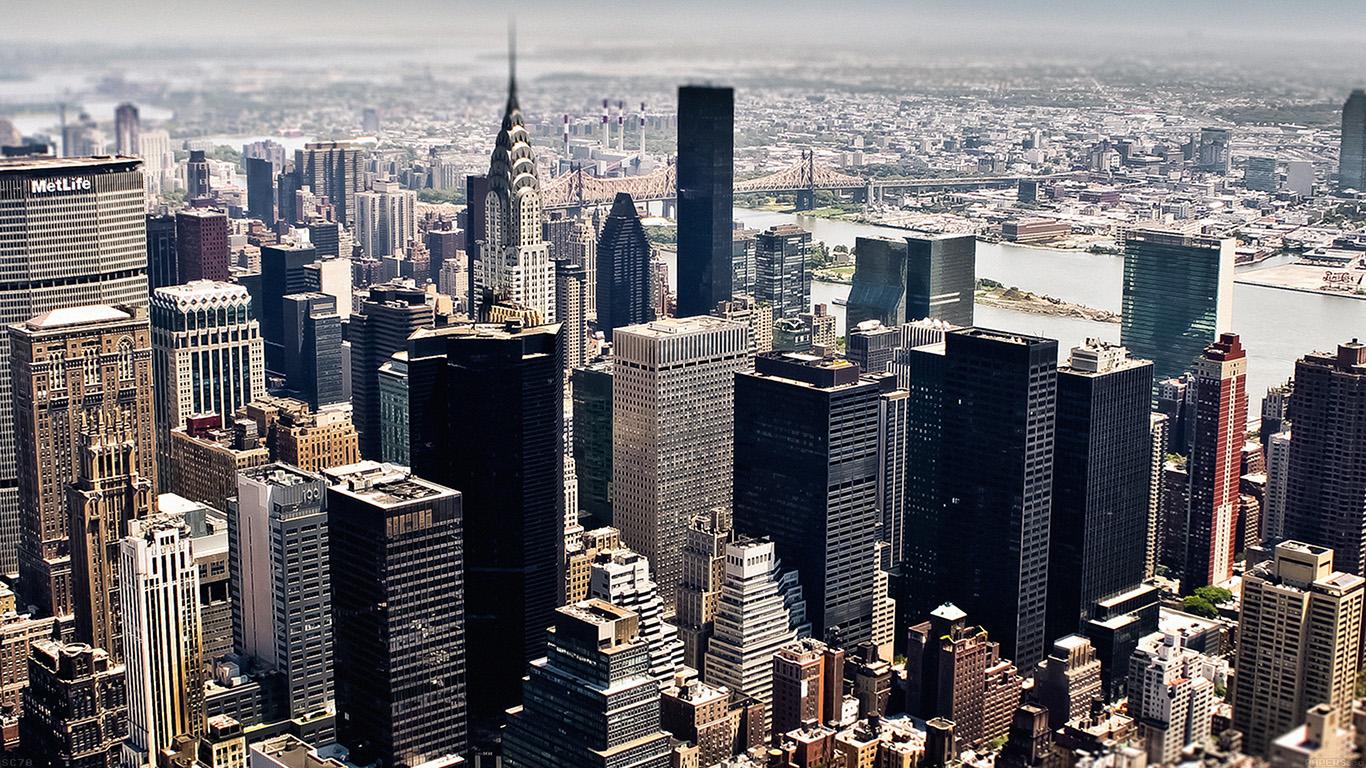 Dual Screen Wallpaper Fall Mi03 New York Sky Tilt Shift City Papers Co