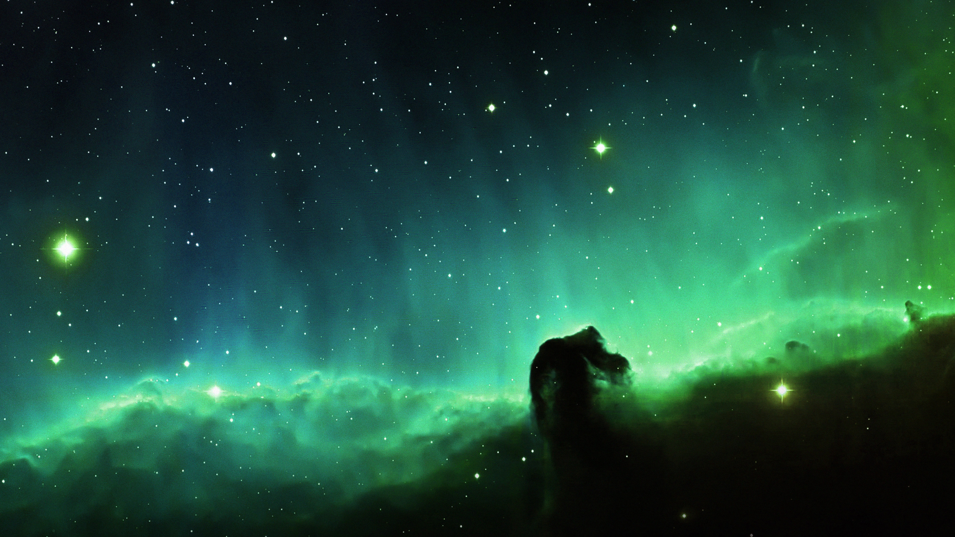 Fall Live Wallpaper Iphone Mj11 Horse Head Blue Nebula Sky Space Stars Papers Co