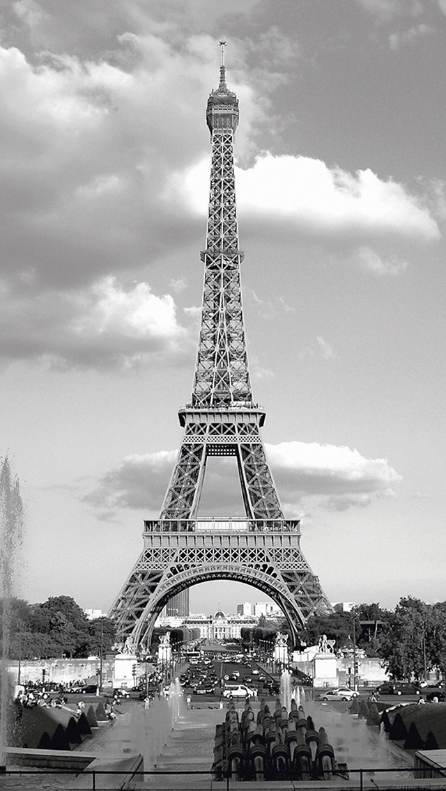 Cute Vintage Iphone Wallpapers Mj38 Paris With Eiffel Tower France City Papers Co