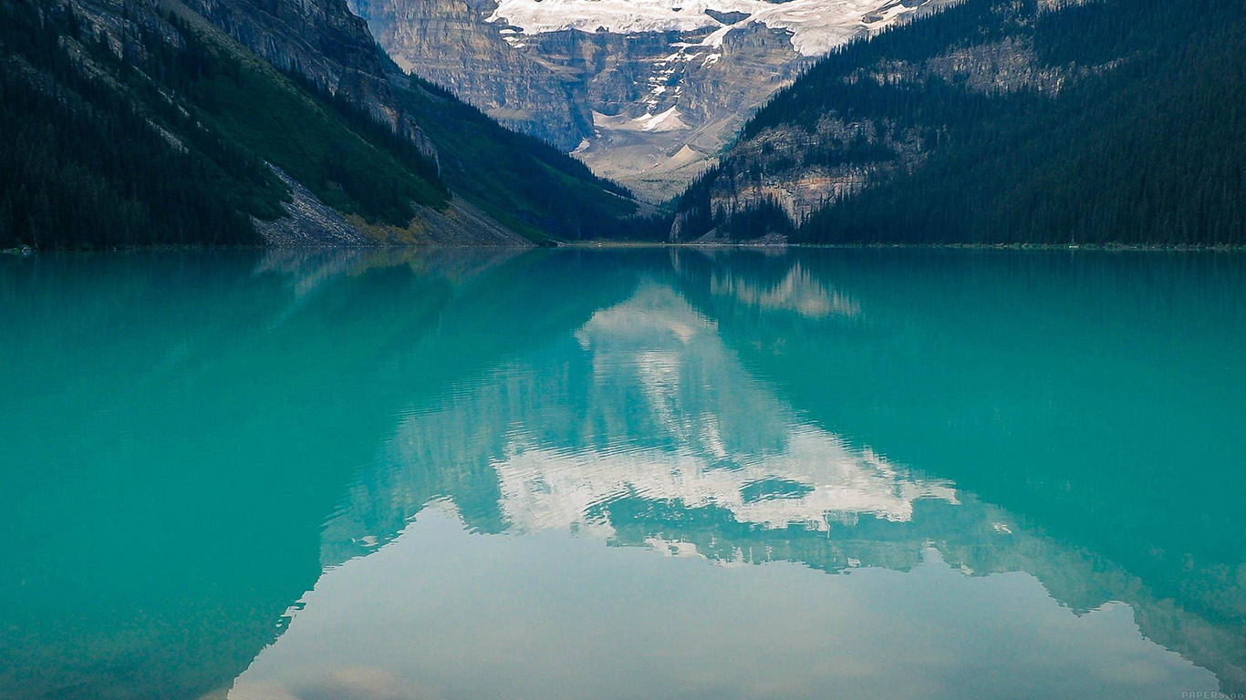 Fall Landscape Computer Wallpaper Mk48 Canada Lake Louise Green Water Nature Papers Co