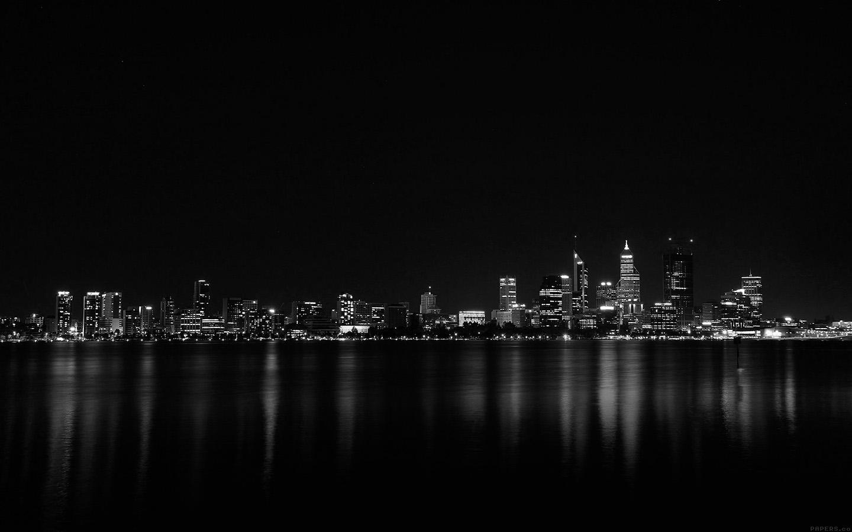 City Skyline Wallpaper Iphone Mk52 City Night Dark Skyline Architecture River Wallpaper