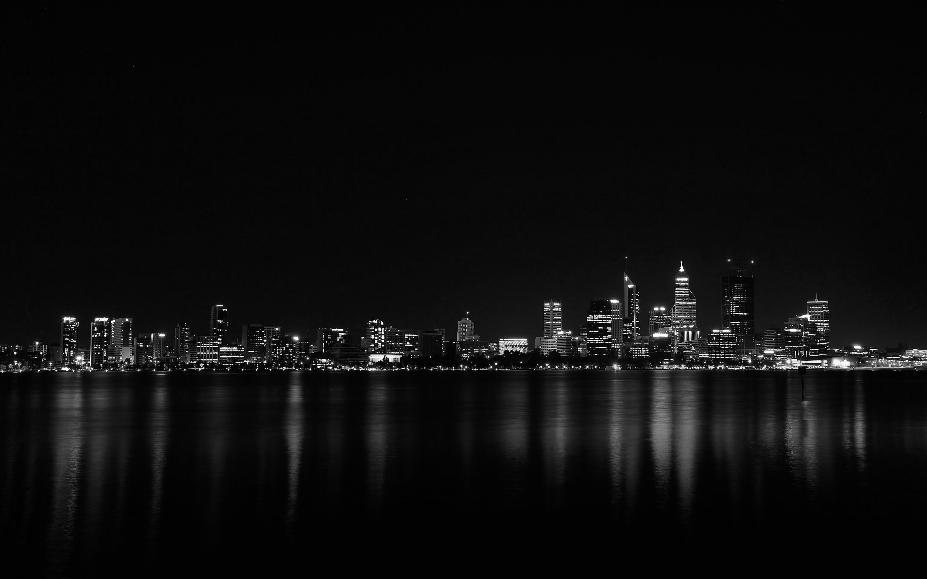 Black Car Lights Wallpaper Mk52 City Night Dark Skyline Architecture River Wallpaper