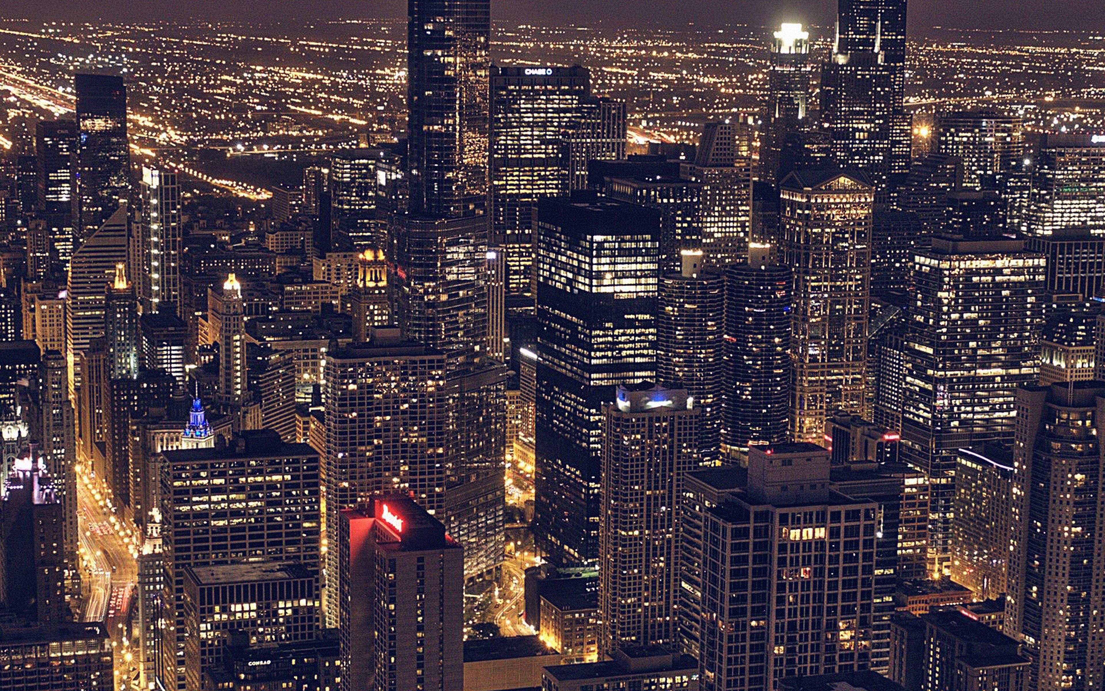 3d Wallpaper City Lights Ml83 City View Night Dark Papers Co