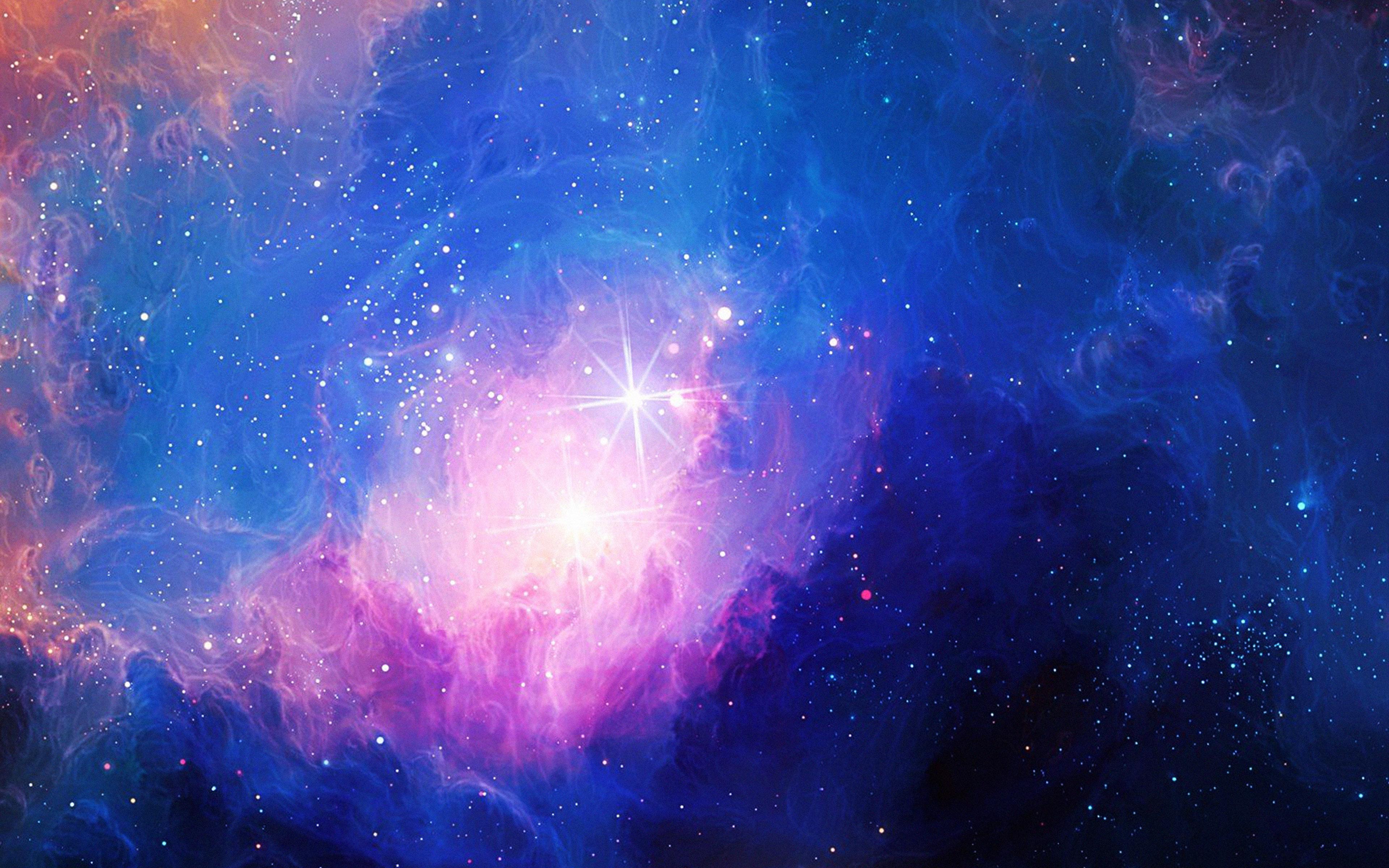 Phone Fall Wallpaper Mn48 Space Aurora Art Star Illust Blue Rainbow Papers Co