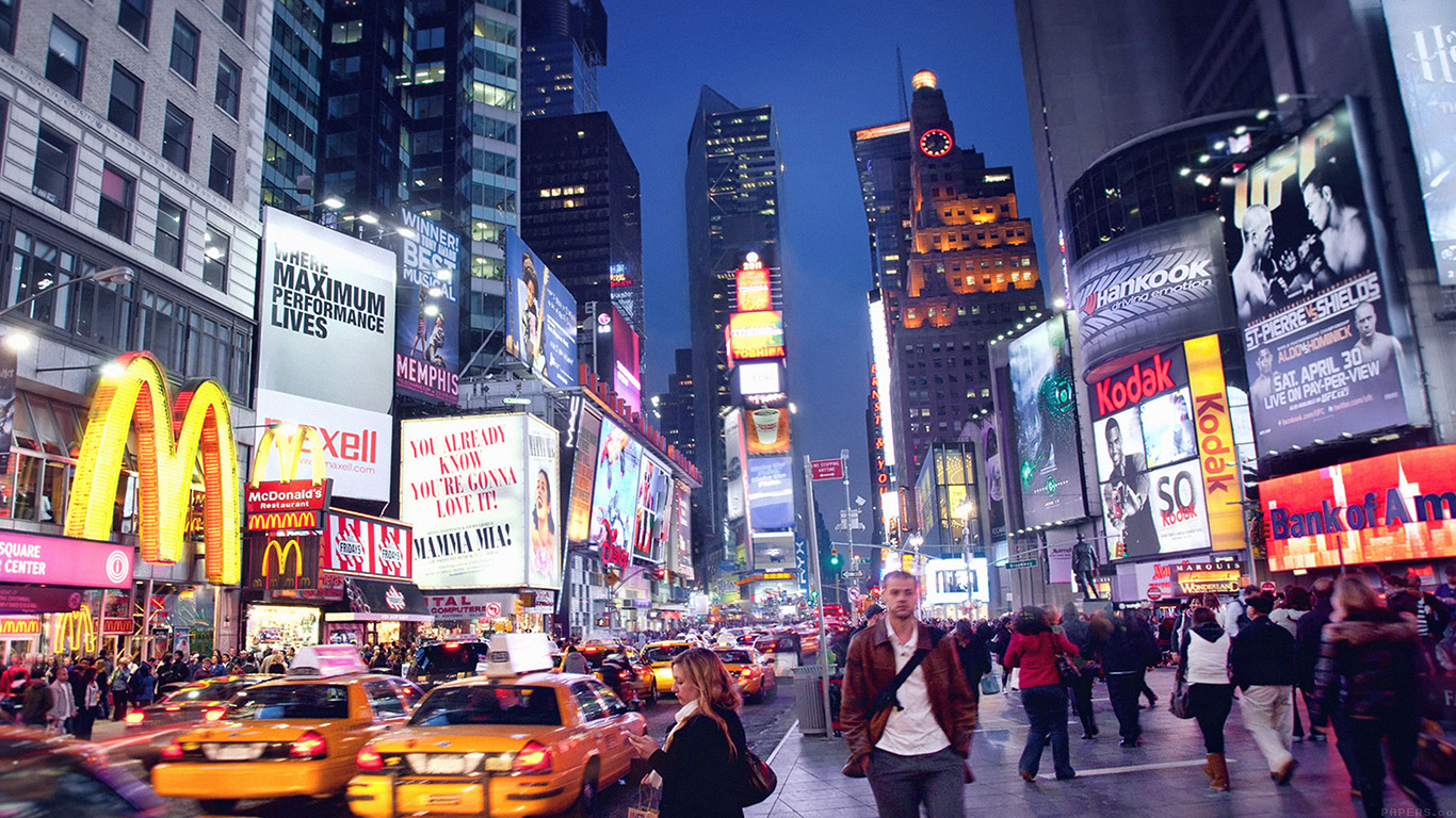 New York Fall Hd Wallpaper Mn64 New York Street Night City Papers Co