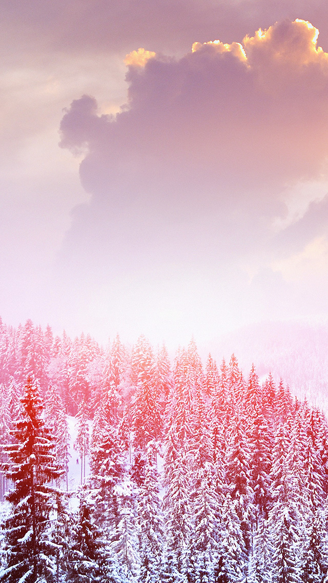 Iphone 6 Lock Screen Wallpaper Girl Mo00 Winter Mountain Snow White Red Nature Papers Co