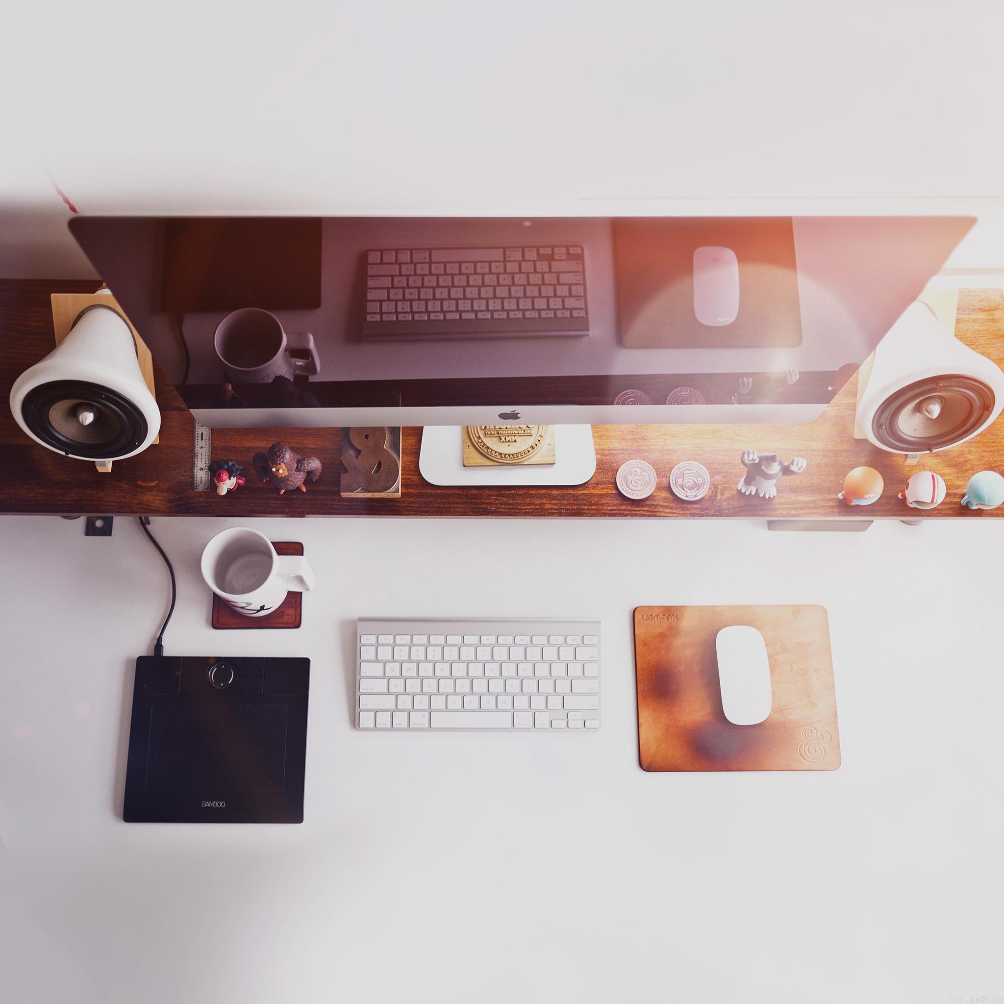 Office Desk Wallpaper Hd Mo39 Mac Apple Desk Jeff Sheldon Flare Office Wallpaper