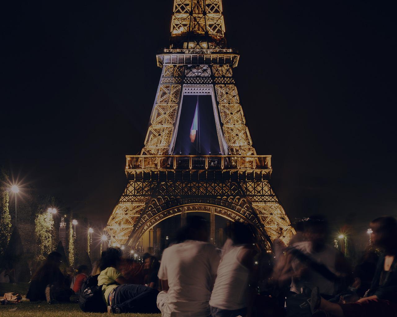 Happy Fall Wallpaper Iphone Ms40 Happy Paris Eiffel Tower France Tour Night City