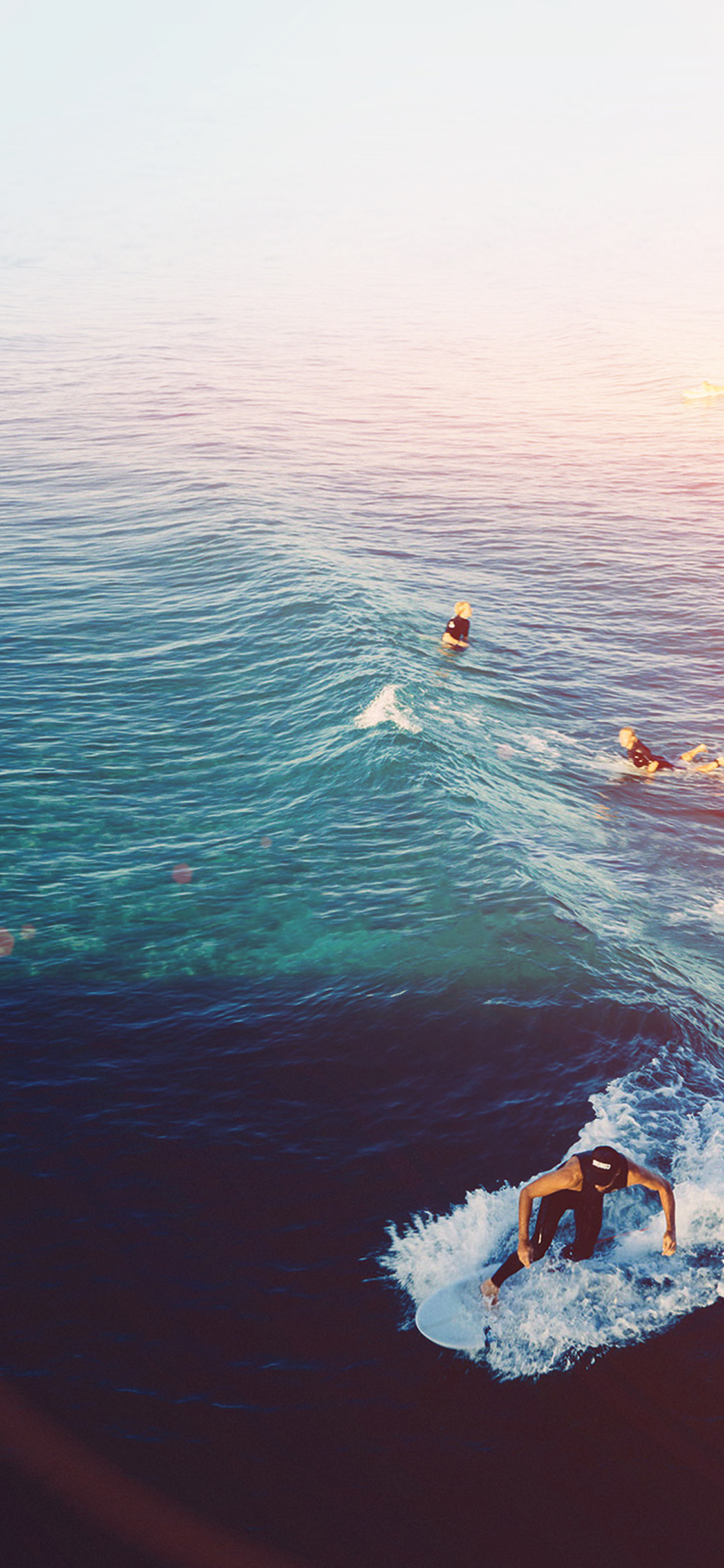 Classic Iphone Wallpaper For Iphone X Ms59 Surfing Wave Summer Sea Ocean Flare Wallpaper