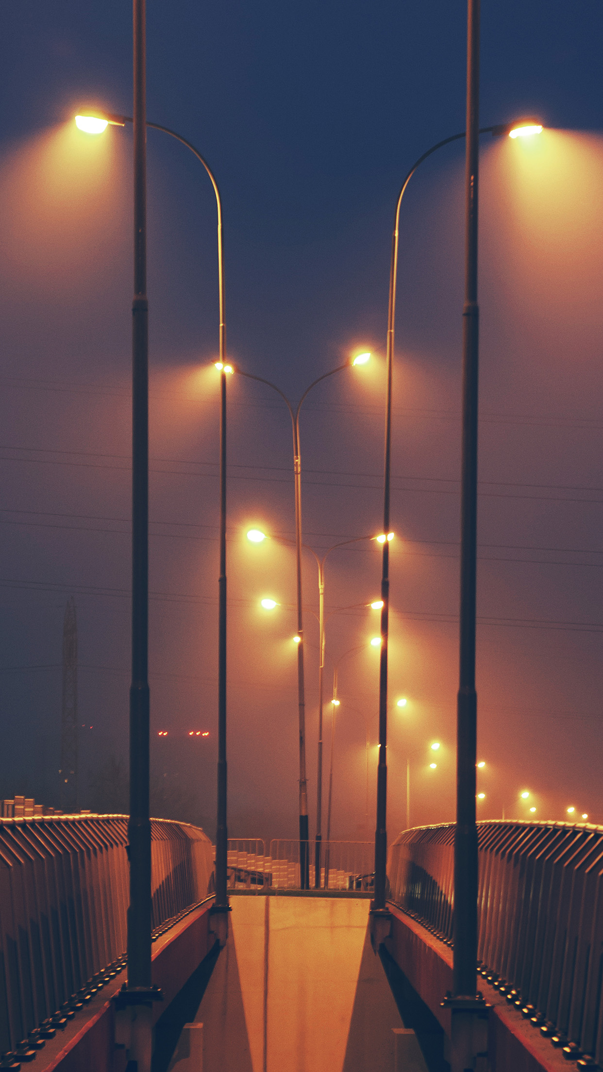 Video Game Girl Wallpaper Mv05 Night Bridge City View Lights Street Orange Dark