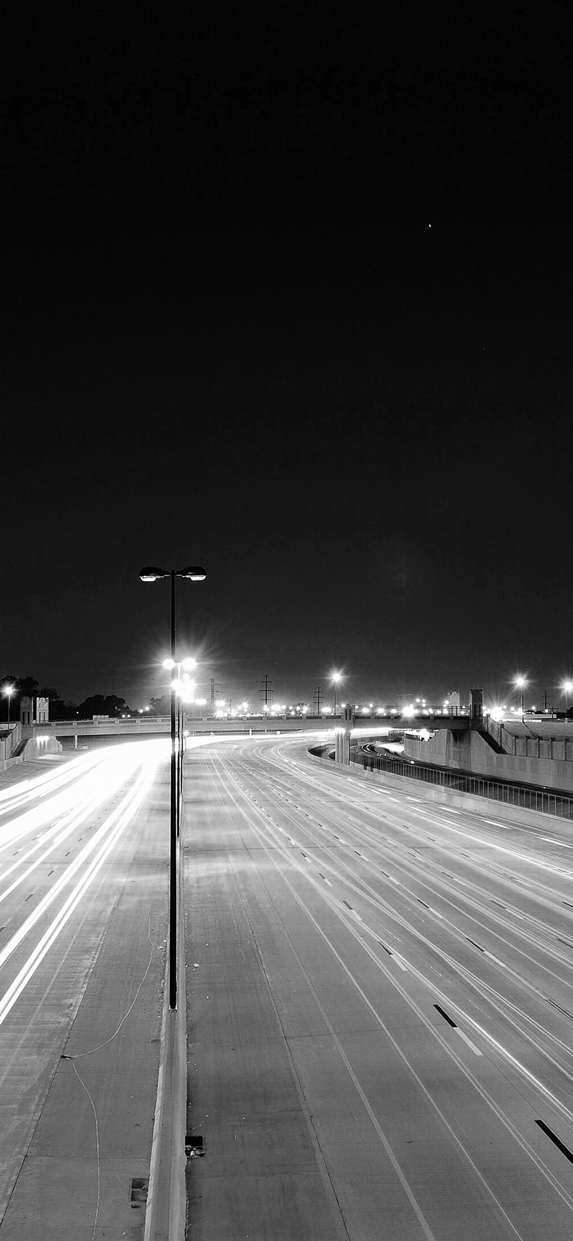 Car Lights Night Wallpaper Mv61 Road Street City Night Car Lights Dark Bw Wallpaper