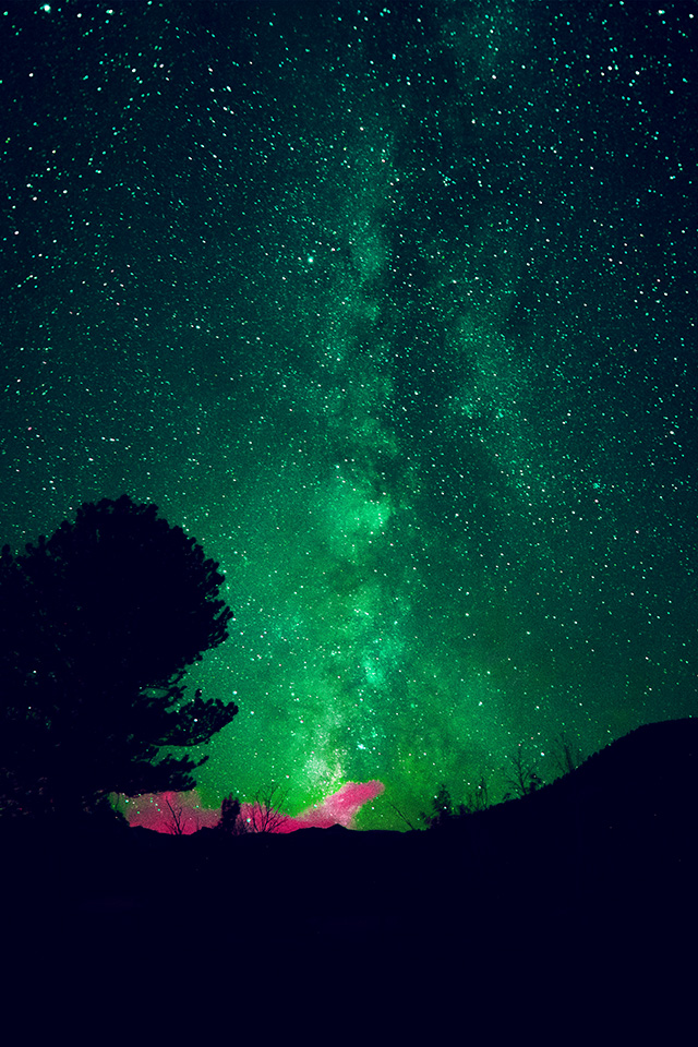 Google Desktop Wallpaper Hd My60 Aurora Night Sky Star Space Nature Green Wallpaper