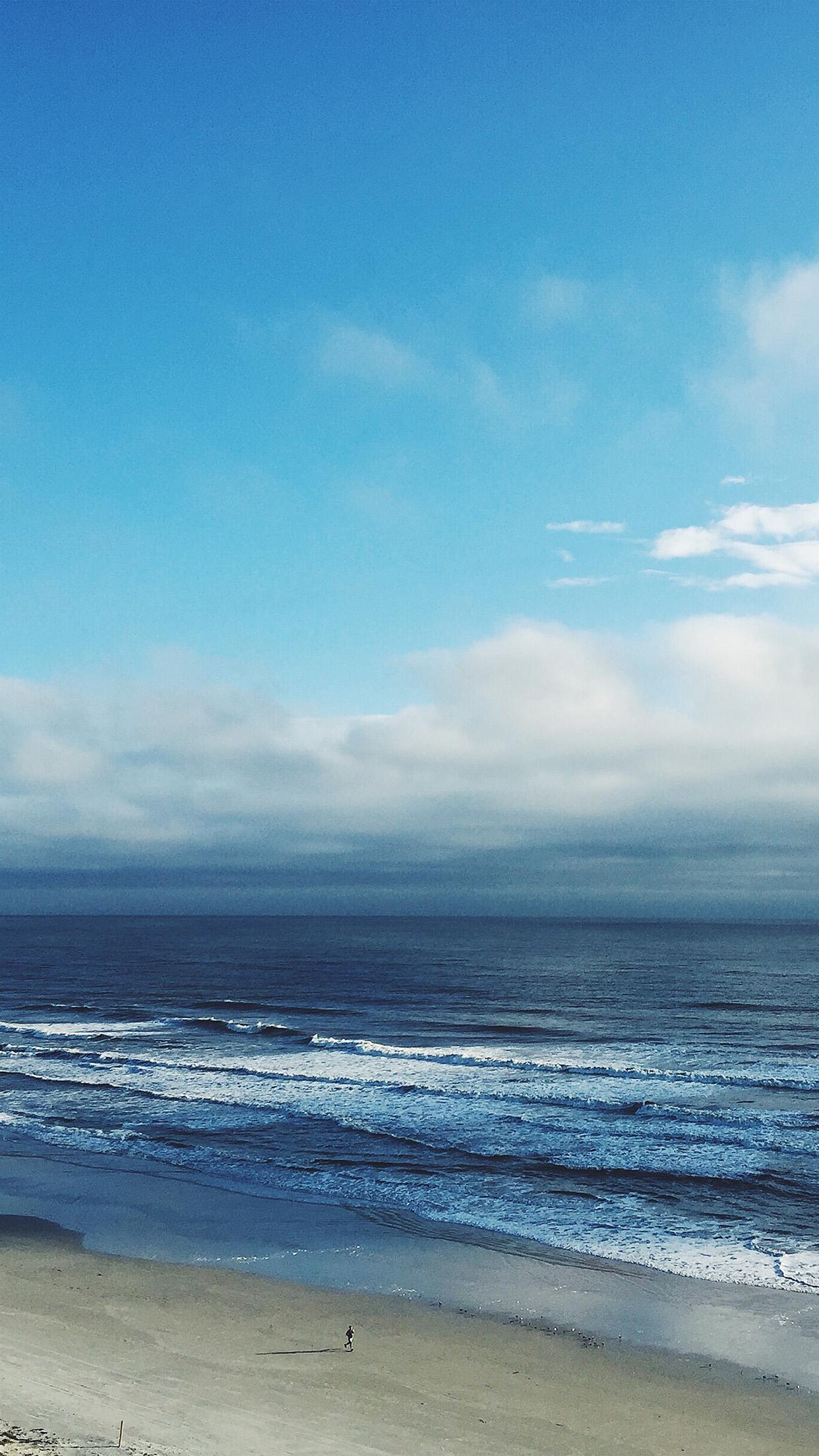 Iphone 6s Wallpaper Fall Papers Co Iphone Wallpaper Mz26 Ocean Blue Sky Cloud