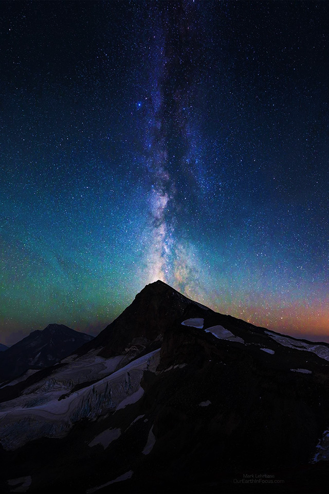 Cute Wallpaper For Androids Na20 Mountain Aurora Sky Night Star Nature Milky Way Wallpaper