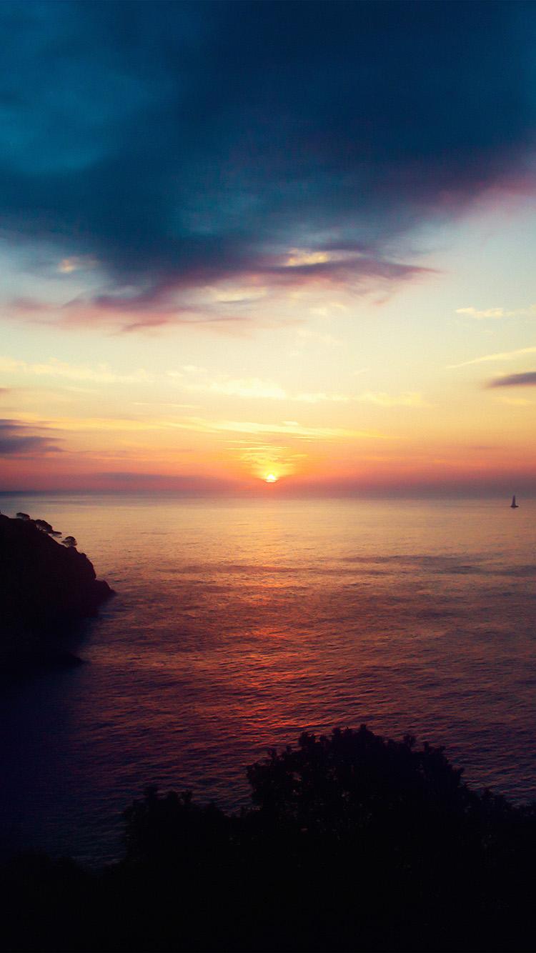 Apple Wallpaper Hd For Iphone 5 Nb90 Sky Sunset Sea Nature Night Wallpaper
