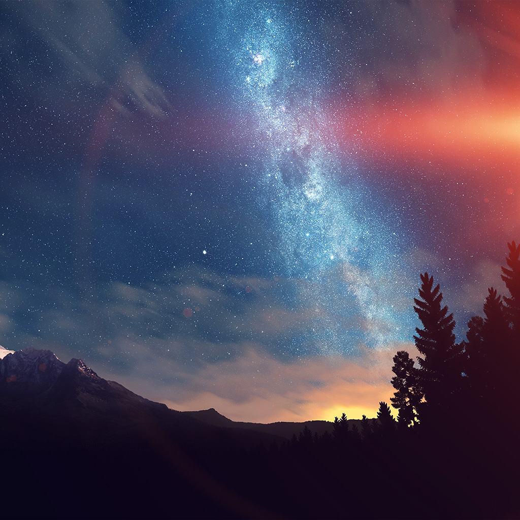 Lg Optimus Wallpaper Hd Nd08 Wonderful Tonight Space Star Sunset Mountain Flare