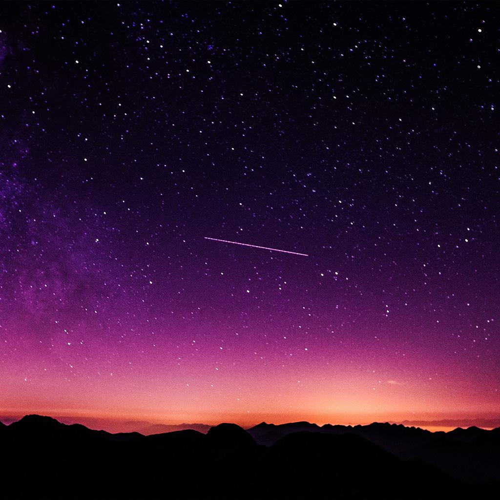 Iphone 5c Wallpaper Hd Ne63 Star Galaxy Night Sky Mountain Purple Red Nature Space