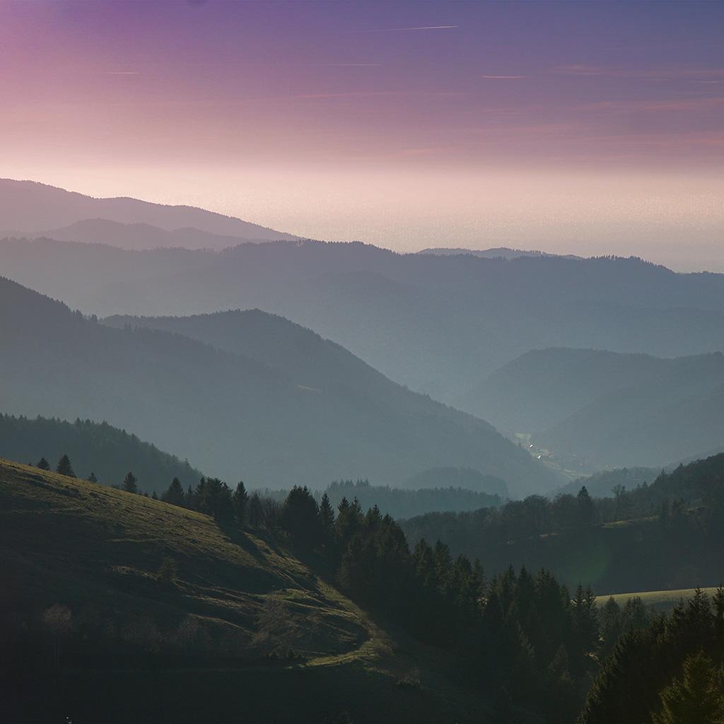 Ios 11 4 Wallpaper On Iphone X Ne98 Mountain View Sky Purple Nature