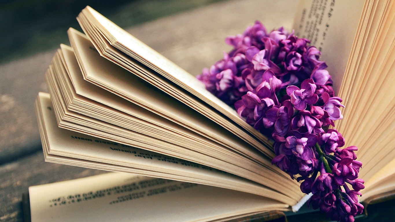 Cute Christmas Wallpaper For Laptop Ni24 Book Read Time Flower Flare Purple Wallpaper