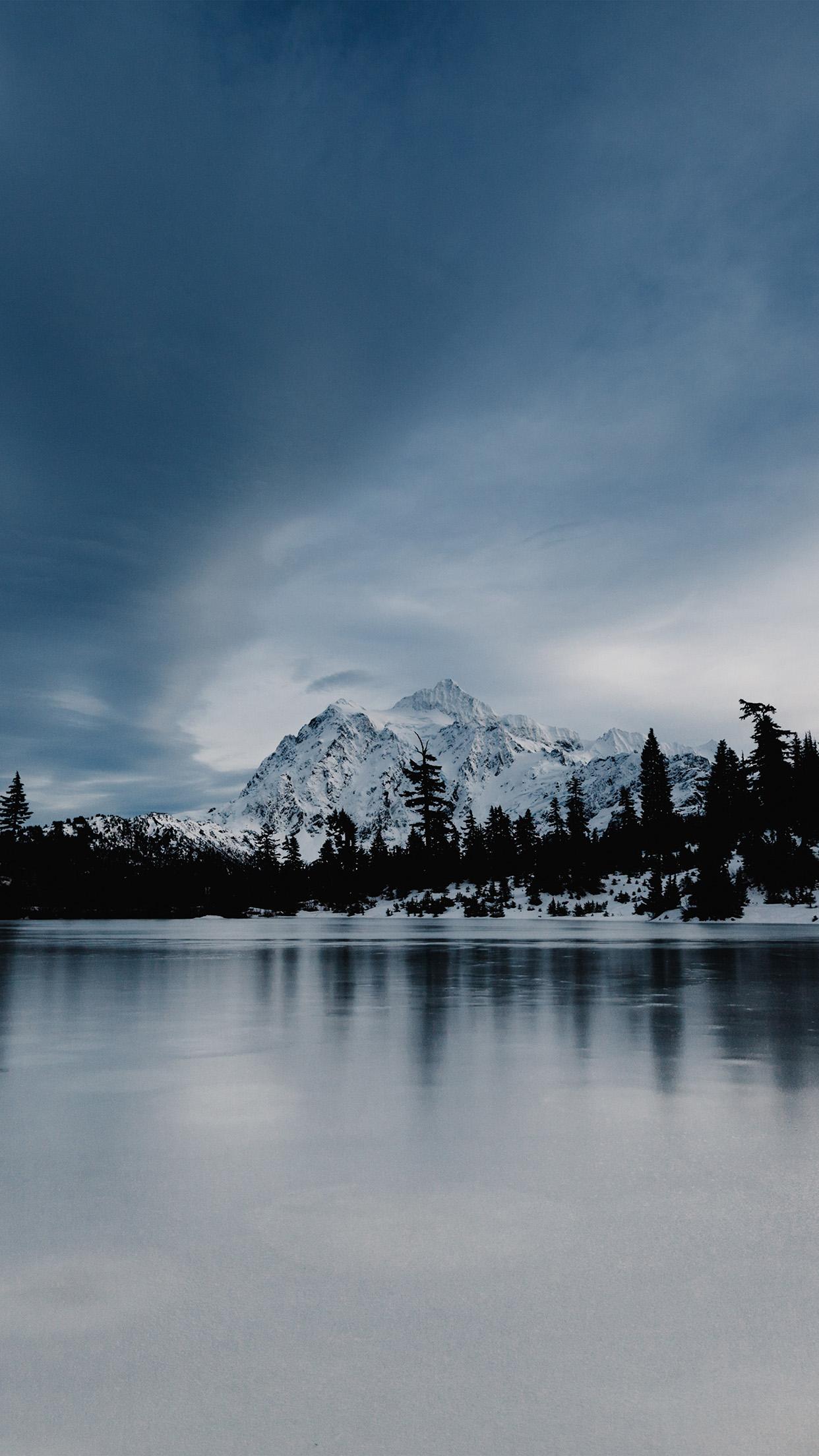 Fall Lake Wallpaper Papers Co Iphone Wallpaper Ni37 Frozen Lake Winter