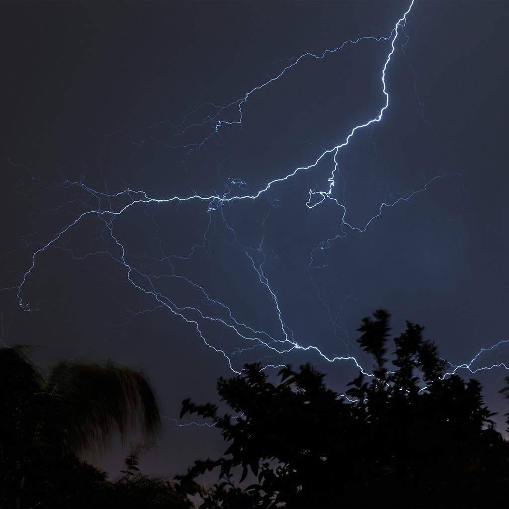 Iphone 5 Wallpaper Gold Nj83 Thunder Bolt Sky Night Dark