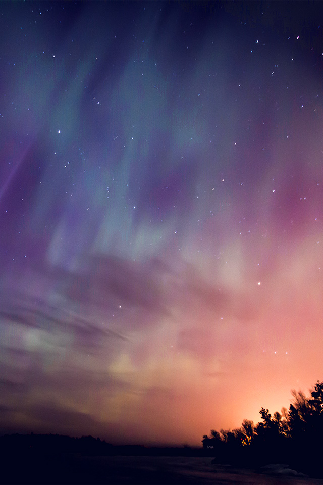 Cute Red Color Wallpaper Nn30 Space Aurora Night Sky Red Color Wallpaper