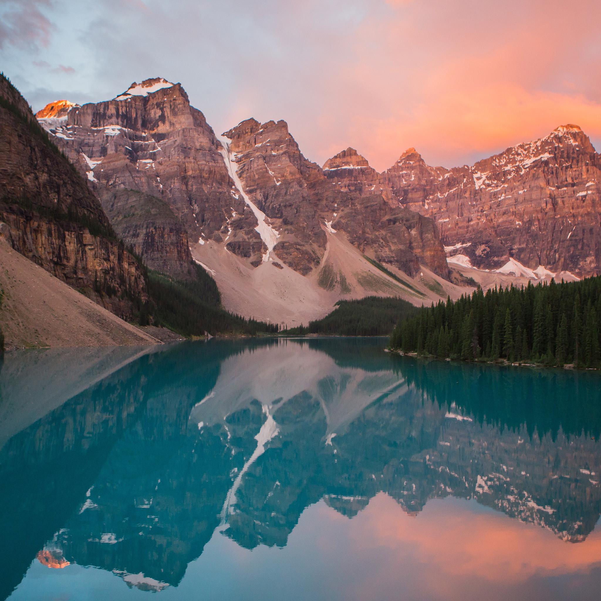 Samsung Galaxy Wallpaper Hd Ns24 Lake Mountain Pink Sunset Nature Wallpaper