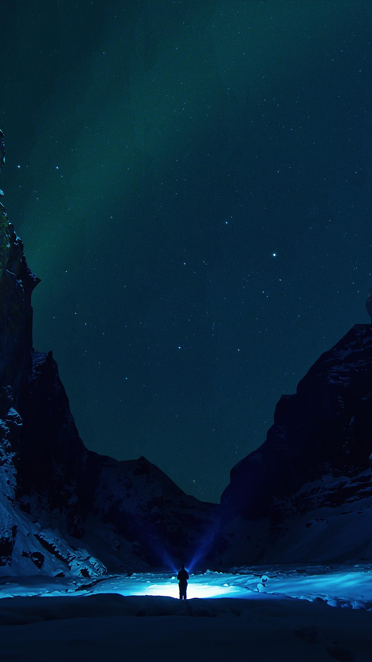 Cute Bokeh Wallpaper Nv33 Winter Dark Night Mountain Nature Wallpaper