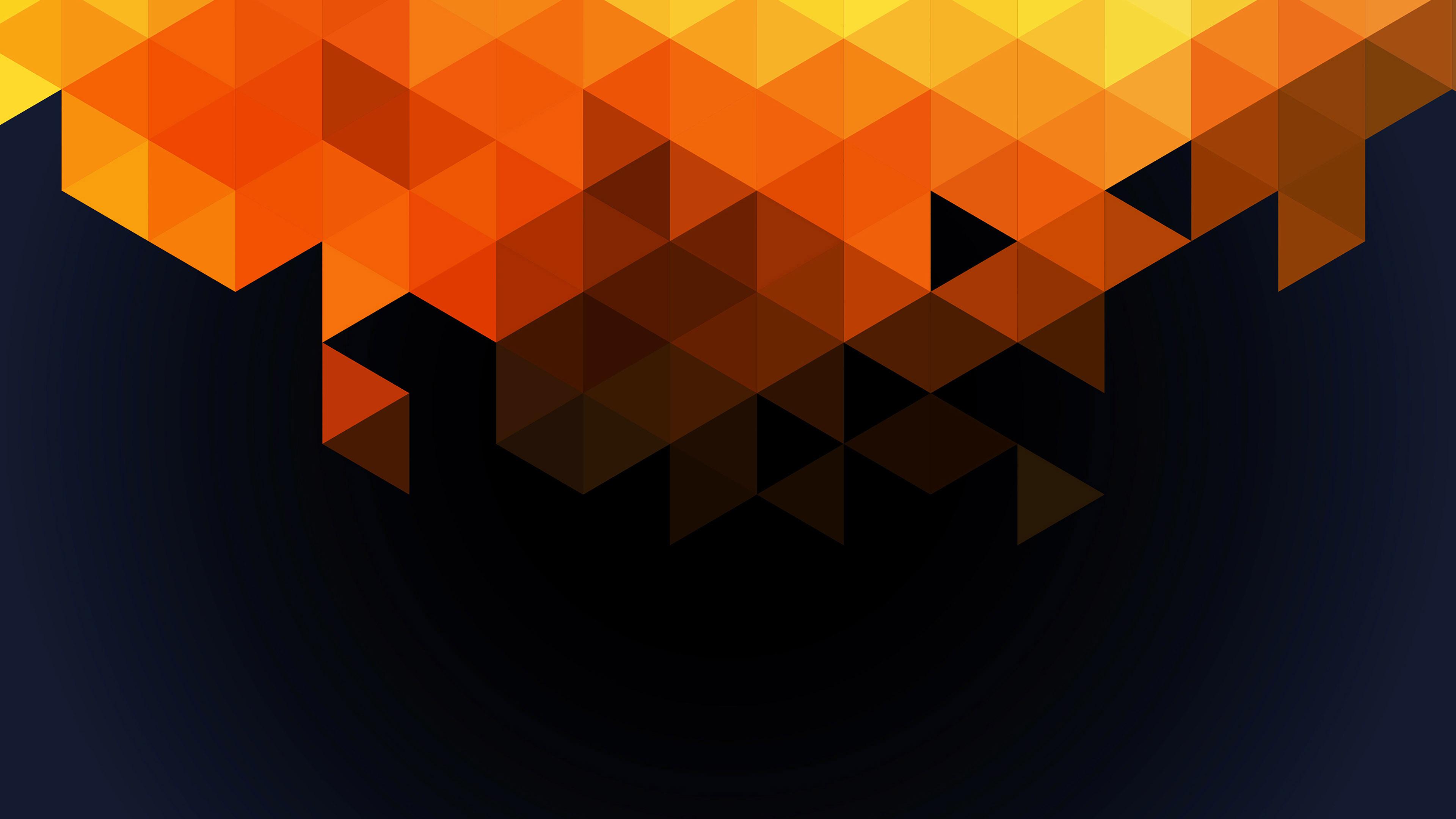 Cute Iphone 7 Plus Wallpaper Va92 Wallpaper Triangle Fall Orange Pattern Wallpaper