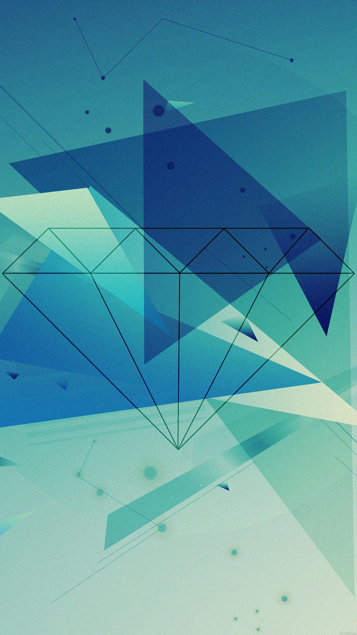 Cute Wallpaper For Phone Hd Vb89 Wallpaper Diamond Blue Illust Graphic Art Wallpaper